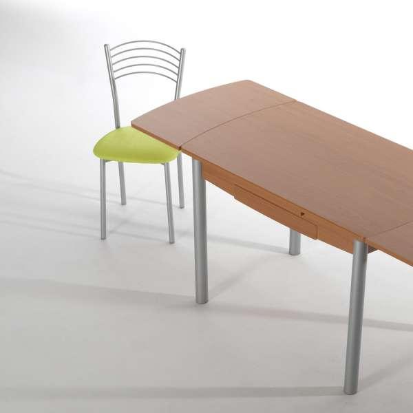 Chaise de cuisine avec assise verte rembourrée - Marta - 2