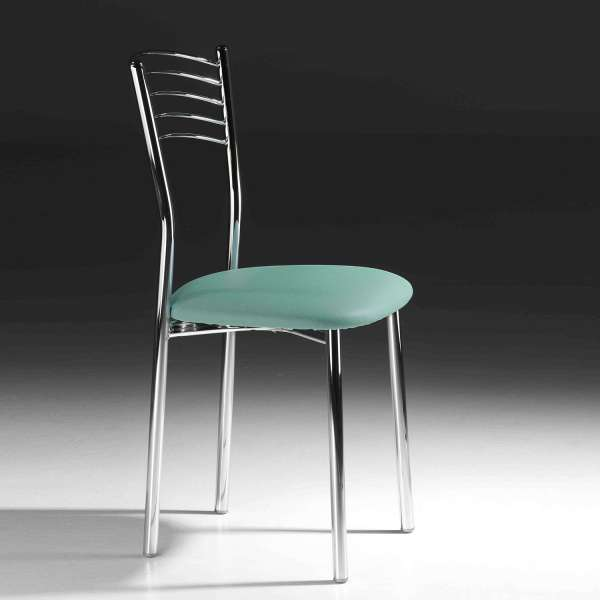 Chaise de cuisine en métal avec assise rembourrée - Marta - 7