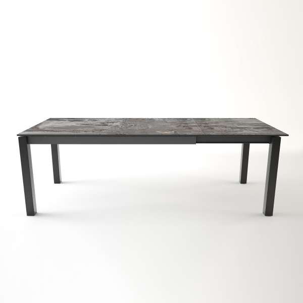 Table en dekton Trilium rectangulaire extensible avec structure en métal anthracite - Lakera - 11