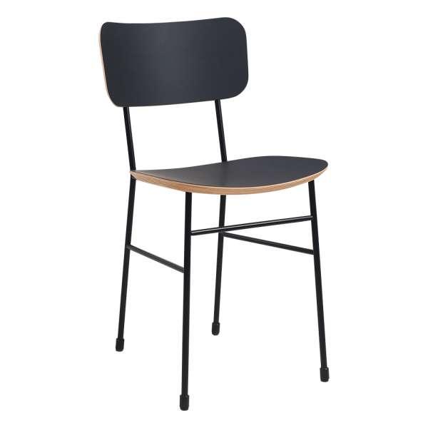 Chaise en fénix noir et métal noir - Master S Midj® - 3