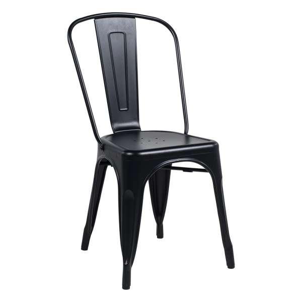 Chaise industrielle en métal empilable - Maxime