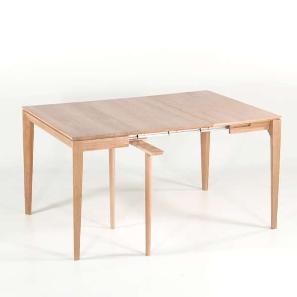 Console en chêne massif avec allonges made in France - Buzz - 11