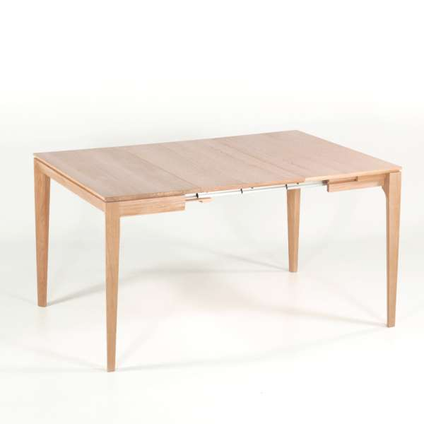 Table console en chêne massif avec allonges made in France - Buzz - 10