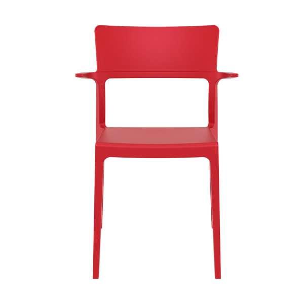 Chaise de jardin avec accoudoirs rouge - 093 Plus - 4