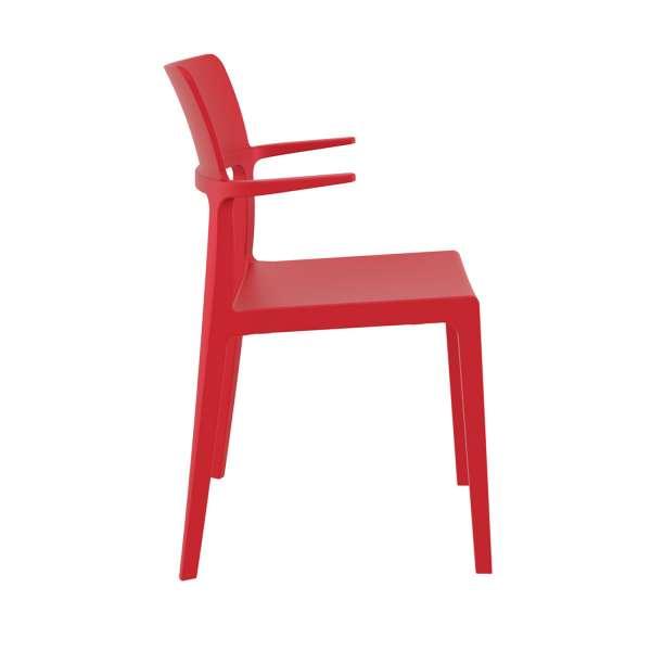 Chaise de terrasse rouge empilable- 093 Plus - 5