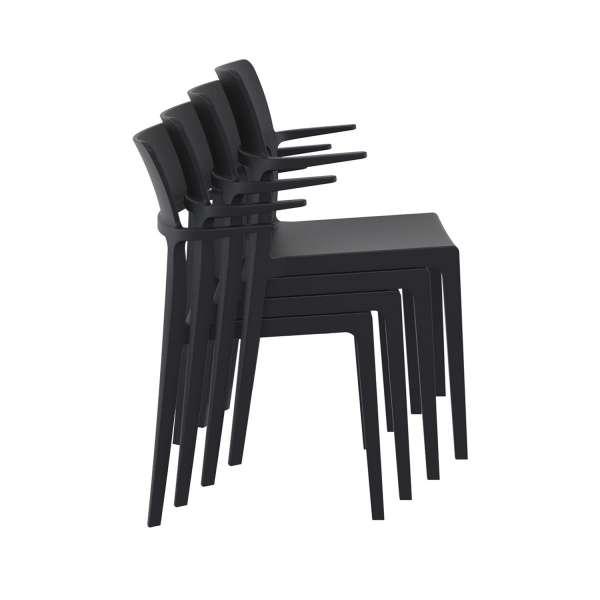 Chaise de jardin avec accoudoirs empilable - 093 Plus - 6
