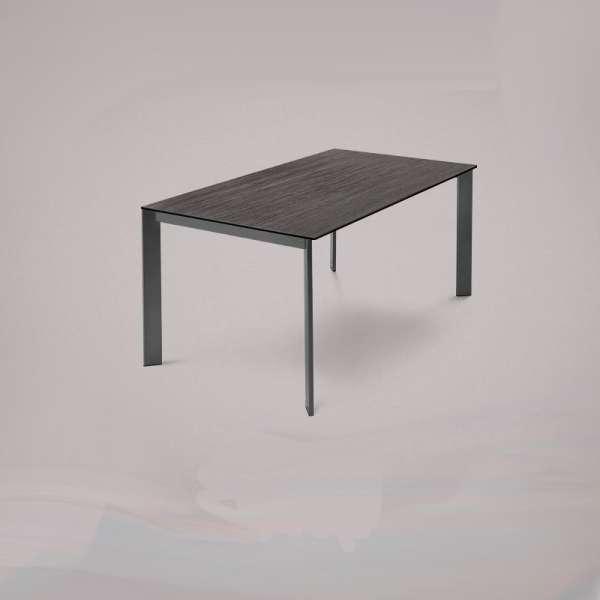 Table en céramique grise rectangulaire extensible avec pieds en métal - Universe Domitalia® - 1