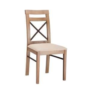 Chaise rembourrée fabriquée en France structure bois et dossier à croisillon - Fabrik