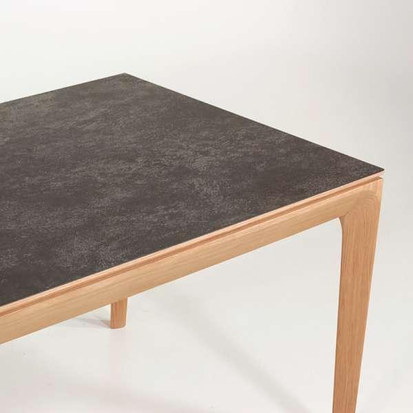 Table de salle à manger made in France extensible en céramique anthracite - Buzz - 8