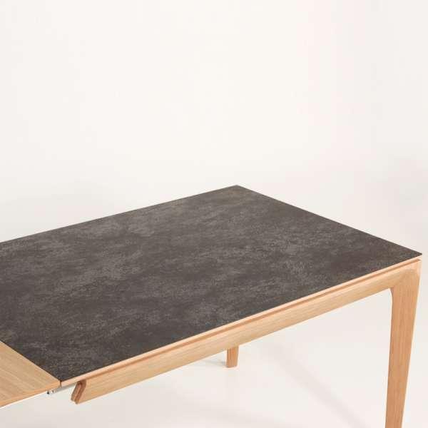 Table de salle à manger française extensible en céramique anthracite tachetée - Buzz - 4