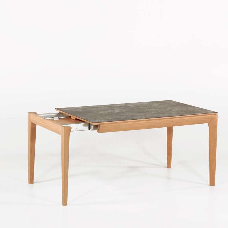 Table de salle manger fran aise extensible en c ramique - Table salle a manger plateau ceramique ...