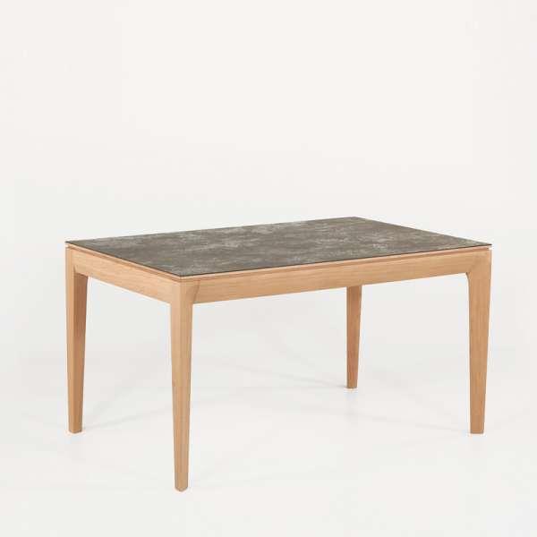 Table de salle à manger française extensible en céramique grise - Buzz - 2