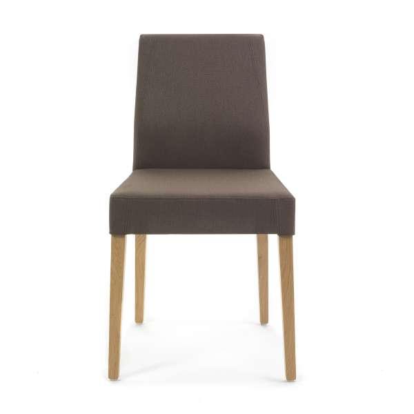 Chaise en tissu marron avec pieds en bois - Ken Mobitec® - 2