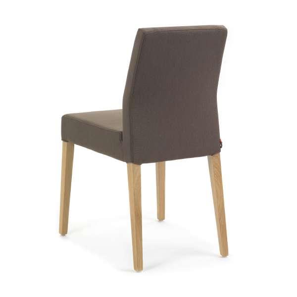 Chaise marron avec pieds en bois naturel Ken de Mobitec - 4