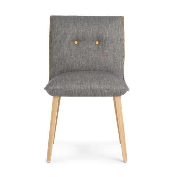 Chaise cocooning grise avec boutons décoratifs - Soda Mobitec® - 2