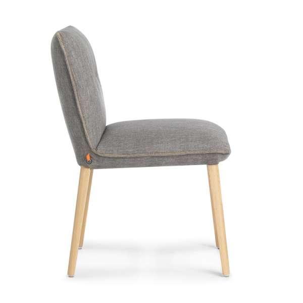 Chaise rembourrée en tissu gris - Soda Mobitec® - 3