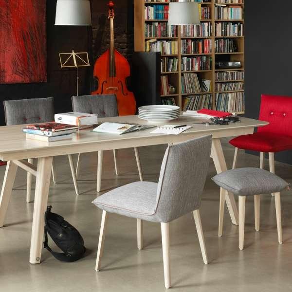 Chaise cocooning en tissu avec boutons décoratifs - Soda Mobitec® - 9