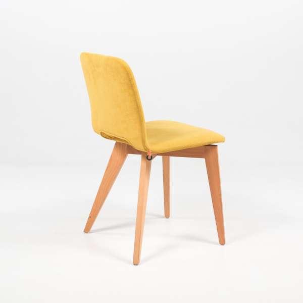 Chaise Mobitec jaune avec pieds bois Pamp - 4