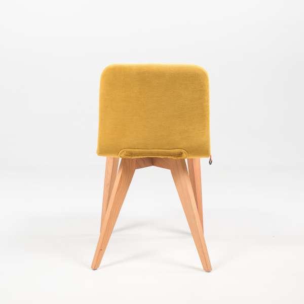 Chaise jaune avec pieds bois - Pamp Mobitec® - 6