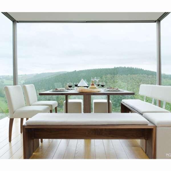 Chaise confortable Mobitec en synthétique blanc et pieds en bois naturel marrons - Shanna - 7