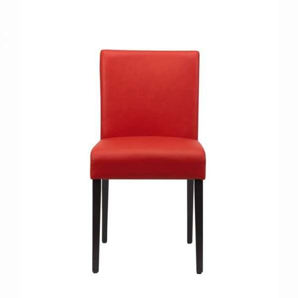 Chaise confortable Mobitec en synthétique et pieds en hêtre naturel noirs - Shanna - 2