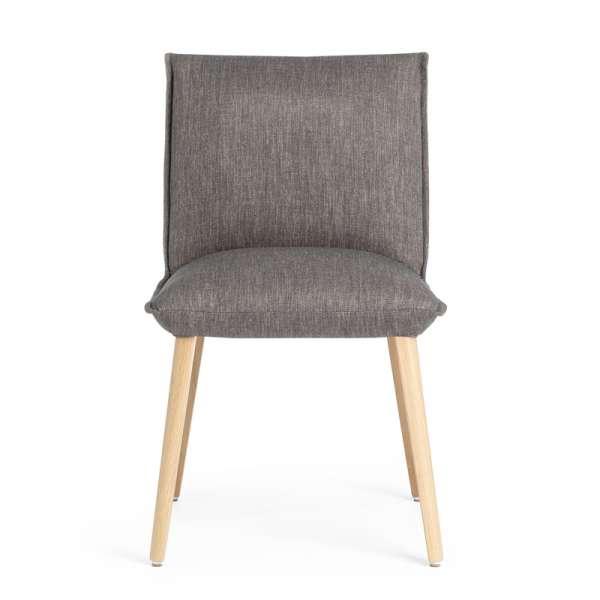 Chaise grise confortable en tissu et bois naturel - Soft Mobitec® - 2