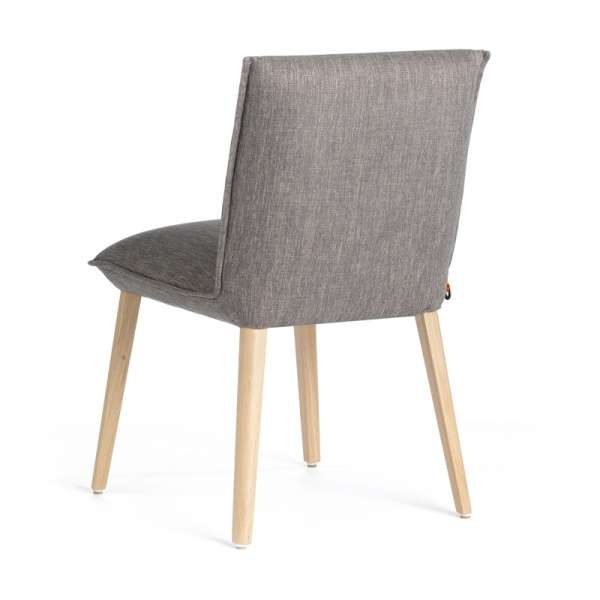 Chaise contemporaine en tissu gris et bois naturel - Soft Mobitec® - 4