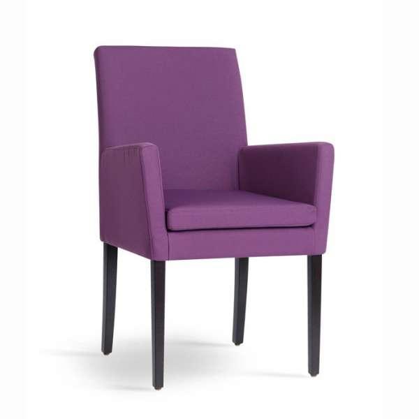 Fauteuil de salon en bois et tissu violet - Vigo Mobitec - 1