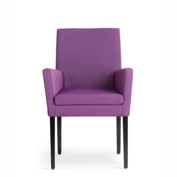 Fauteuil confortable violet en bois naturel et tissu - Vigo Mobitec - 2