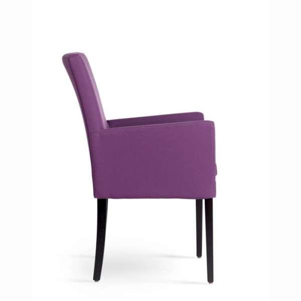 Fauteuil de salon en hêtre massif et tissu violet - Vigo Mobitec - 3