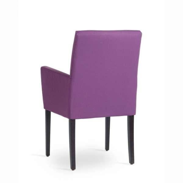 Chaise avec accoudoirs en bois naturel et tissu - Vigo Mobitec - 4