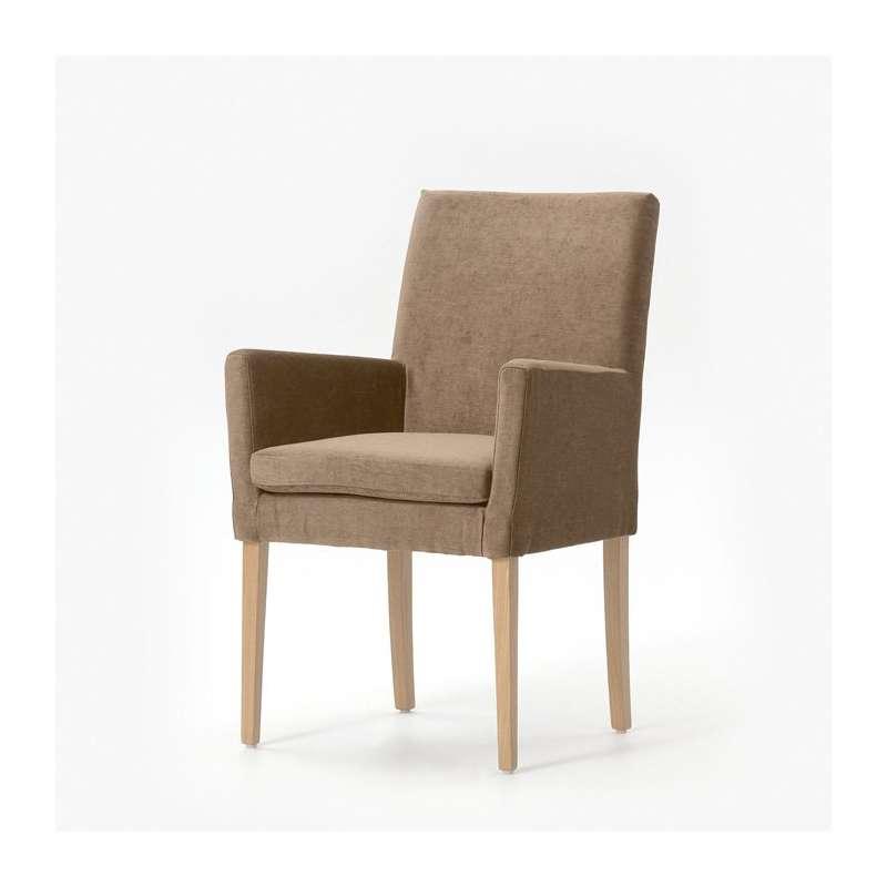 Fauteuil de salon en bois et tissu - Vigo Mobitec® | 4-pieds.com
