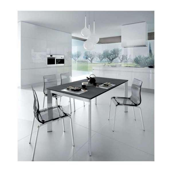 Table en céramique extensible et pieds en métal chromé- Universe Domitalia® - 3