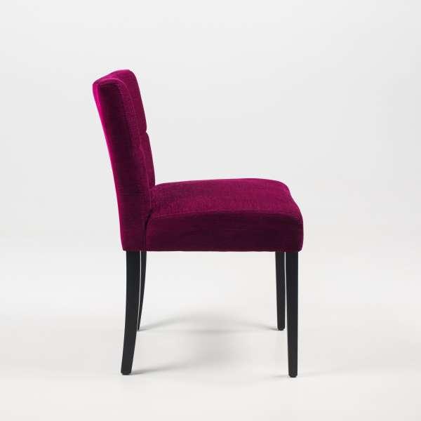 Chaise confortable en tissu et pieds en bois noir - Carré Mobitec® - 8