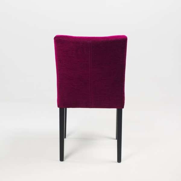 Chaise rembourrée en bois noir et tissu mauve - Carré Mobitec® - 10