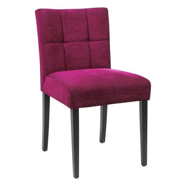 Chaise magenta en tissu et pieds en bois noir - Carré Mobitec® - 5