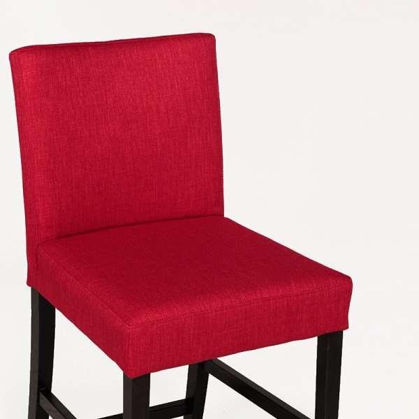Tabouret en tissu rouge et bois naturel - Shelly Mobitec® - 4