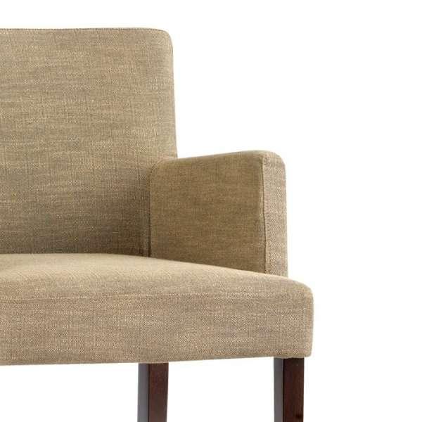 Chaise haute avec accoudoirs et dossier en bois et tissu - Shelly Mobitec® - Option accoudoir - 4