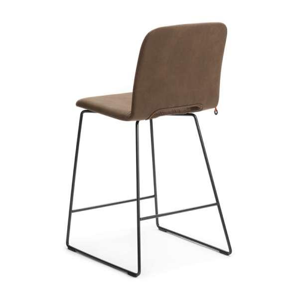 Chaise haute avec dossier en tissu marron et métal - Pamp Mobitec® - 4