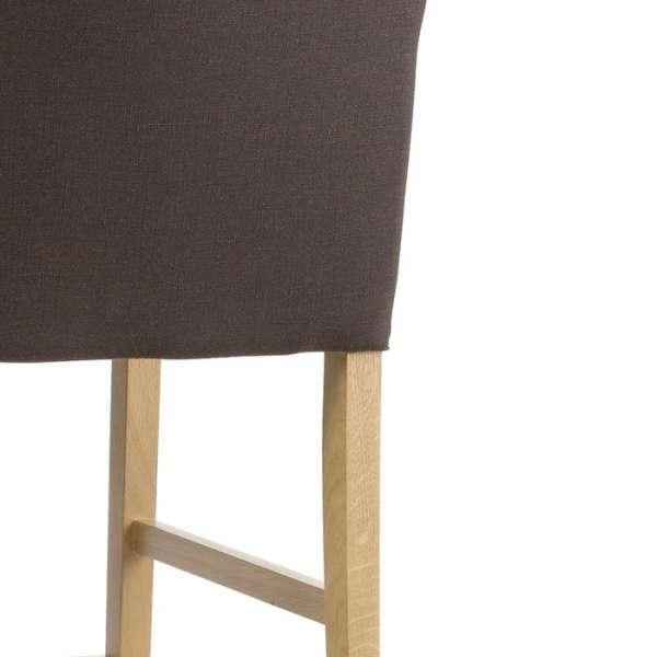 Tabouret de bar en bois naturel et tissu marron - Shawn Mobitec® - 5