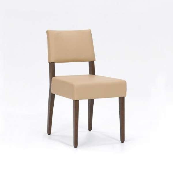 Chaise de séjour en bois et synthétique sable - Brindisi Mobitec® - 5