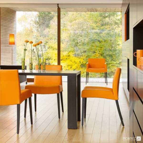 Table noire en bois piétement larges  - Nevada Mobitec® - 12