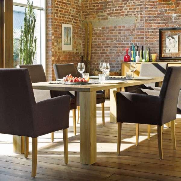 Table en bois salle à manger piétements larges - Nevada Mobitec® - 13