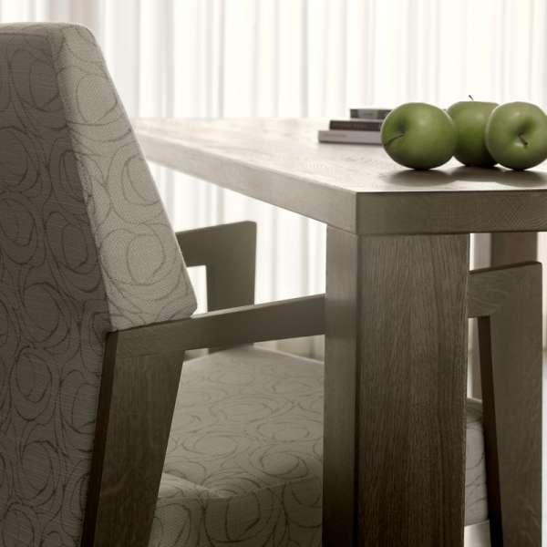 Table grise en bois massif - Nevada Mobitec® - 11