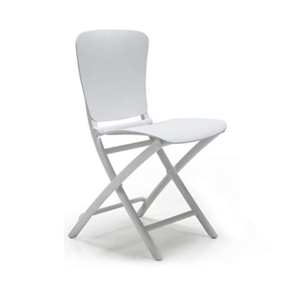 Chaise de jardin pliante en polypropylène blanc - Zac Classic - 3