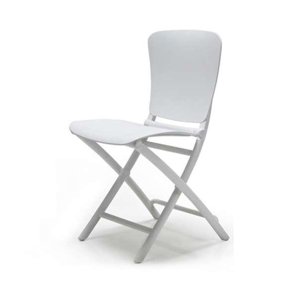 Chaise de jardin pliante blanche - Zac Classic - 4