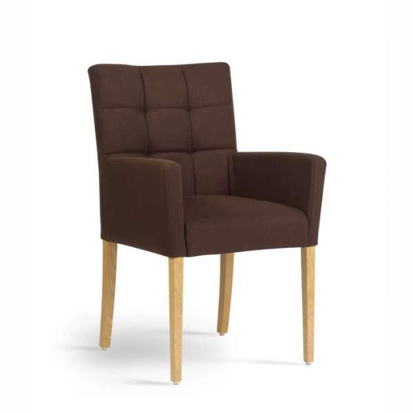Fauteuil de salon contemporain en bois et tissu - Carré Mobitec®