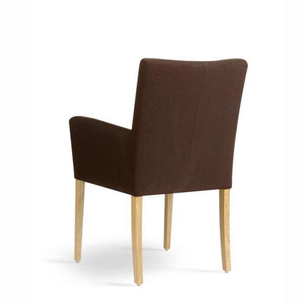 Chaise avec accoudoirs confortable marron - Carré Mobitec® - 4