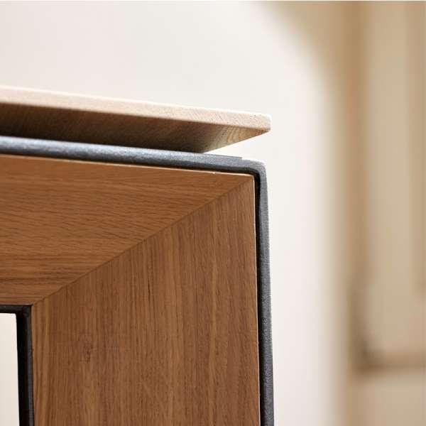 Table avec allonge en bois massif et métal - Oxford Mobitec® - 10