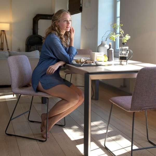 Table rectangulaire en bois massif marron clair - Oxford Mobitec® - 13